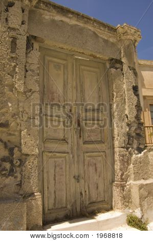 Old Wooden Grungy Door