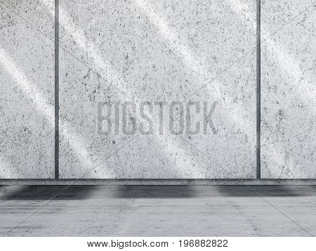 Abstract Concrete Room Interior With Shadow Lines