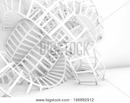Abstract Digital Background, 3D Wire Structure