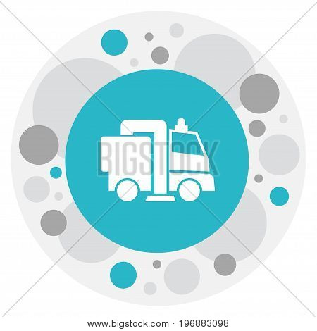 Vector Illustration Of Cleanup Symbol On Sweeping Machine Icon