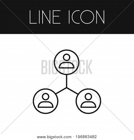Sharing Vector Element Can Be Used For Sharing, Networking, People Design Concept.  Isolated Networking Outline.