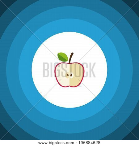 Fresh Fruit Vector Element Can Be Used For Jonagold, Apple, Fruit Design Concept.  Isolated Jonagold Flat Icon.
