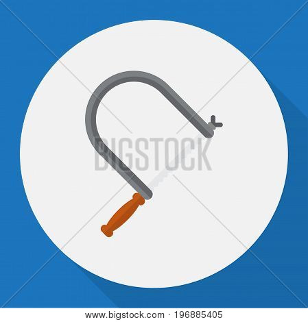 Vector Illustration Of Equipment Symbol On Handsaw Flat Icon