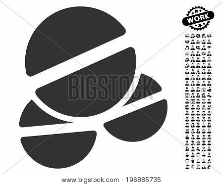 Tablets icon with black bonus job symbols. Tablets vector illustration style is a flat gray iconic element for web design, app user interfaces.
