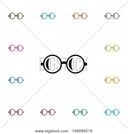 Spectacles Vector Element Can Be Used For Spectacles, Sunglasses, Glasses Design Concept.  Isolated Glasses Icon.