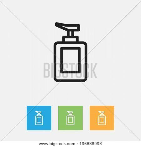 Vector Illustration Of Hygiene Symbol On Hand Sanitizer Outline