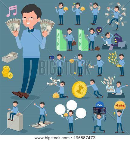 Flat Type Blue Clothing Glass Dad_money
