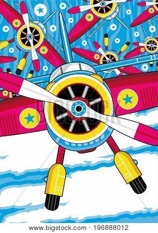 Cartoon Plane Pattern 2