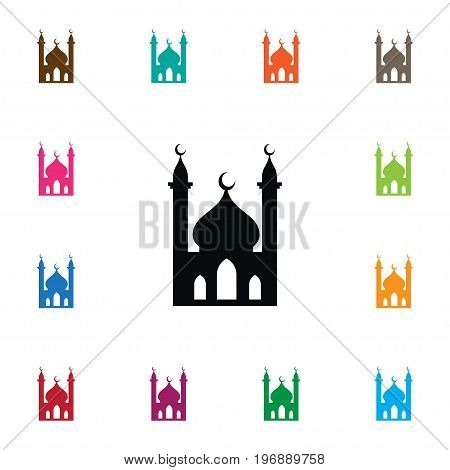 Religious Vector Element Can Be Used For Religious, Muslim, Mosque Design Concept.  Isolated Muslim Icon.