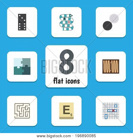 Flat Icon Games Set Of Dice, Bones Game, Multiplayer And Other Vector Objects