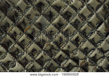 black varnish synthetic leather bag background and texture