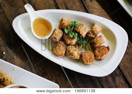 Jock fried chicken for a snack ready to cook