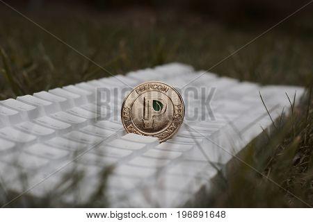 Gold Peercoin Coin