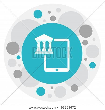Vector Illustration Of Investment Symbol On Technology Icon