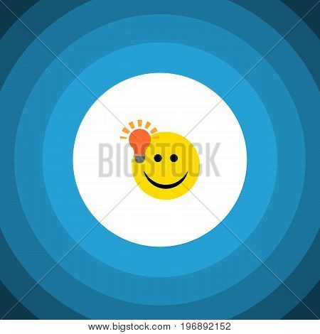 Have An Good Opinion Vector Element Can Be Used For Light, Idea, Smile Design Concept.  Isolated Light Bulb Idea Flat Icon.