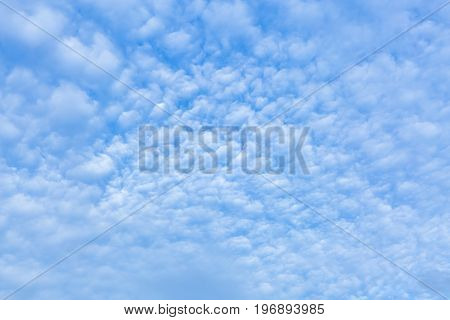 Fiery cloudy sky expose cloudy in blue sky. Abstract background.