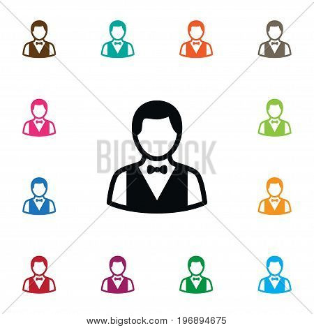 Boy  Vector Element Can Be Used For Boy, Depositor, Croupier Design Concept.  Isolated Depositor Icon.