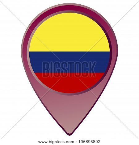 Isolated Colombian Flag
