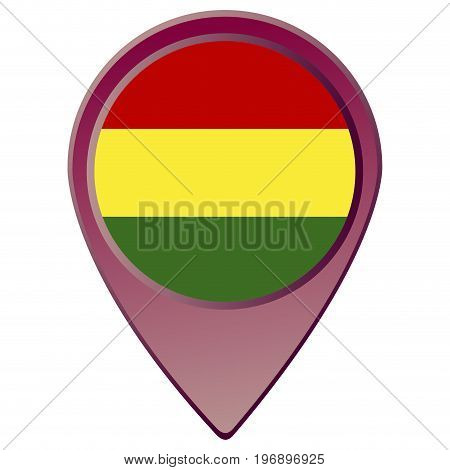 Isolated Bolivian Flag