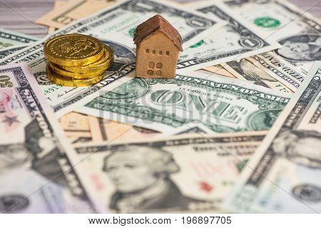 Banknote and House, business concept, business background