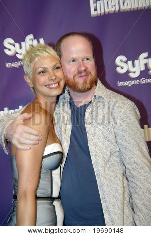 SAN DIEGO, CA - JULY 24:  Morena Baccoarin and Joss Weedon arrive at the SyFy/EW party held July 24, 2010 at the Hotel Solamar in San Diego, CA.