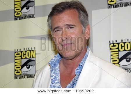 SAN DIEGO, CA - JULY 22: Bruce Campbell arrives in the press room for