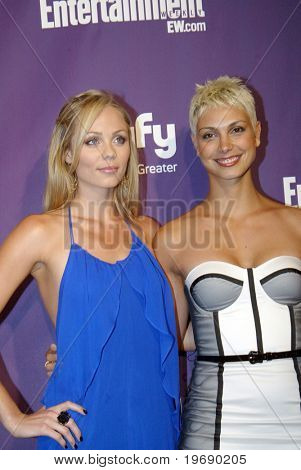 SAN DIEGO, CA - JULY 24: Laura Vandersnoot and Morena Baccarin arriveat the SyFy/EW party held July 24, 2010 at the Hotel Solamar in San Diego, CA.