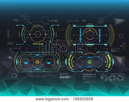 set of HUD and infographic elements. futuristic user interface for web and app.