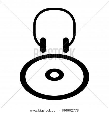 Isolated Cd Player Icon