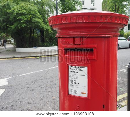 Red Mailbox In London