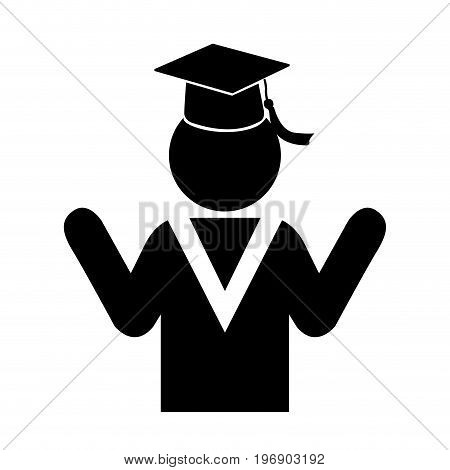 Isolated Graduating Student Icon