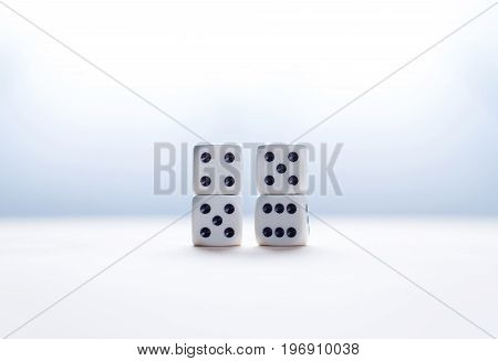 Nine eleven from dice numbers. 9-11 concept.