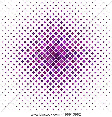 Color diagonal square pattern background - geometrical vector graphic from purple squares