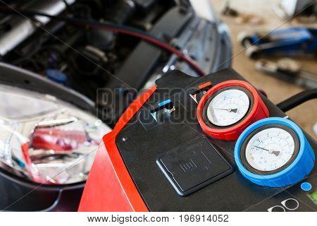 Refilling Of Car Air Conditioner