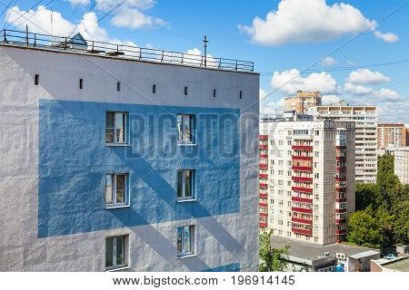 Residential Houses In Moscow City In Sunny Day
