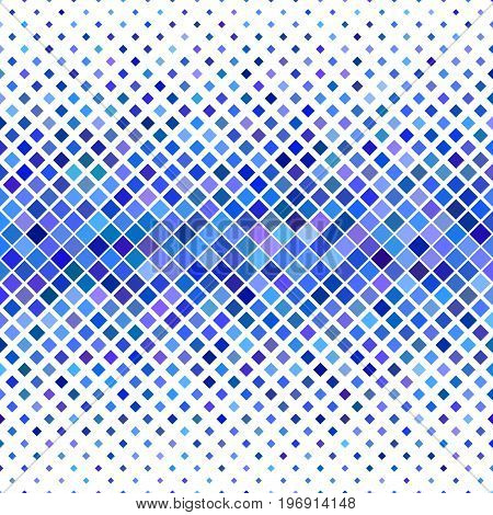Color abstract square pattern background - abstract vector illustration from diagonal squares in blue tones