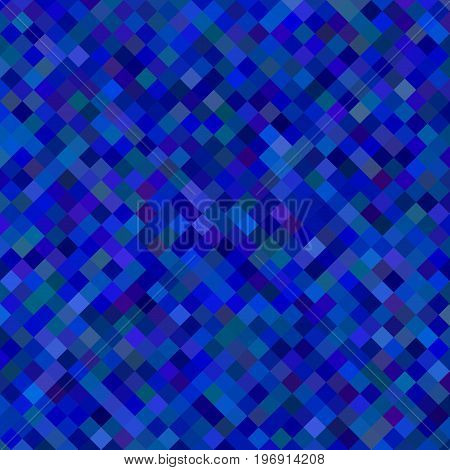 Color square pattern background - geometrical vector graphic from diagonal squares in dark blue tones