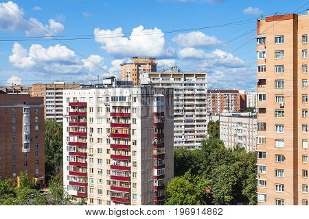 Residential Quarter In Moscow City In Sunny Day