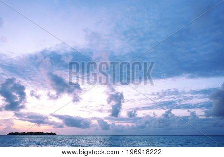Beautiful seascape in evening