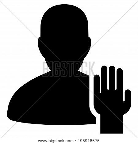 Elector vector pictogram. Style is flat graphic symbol, black color, white background.