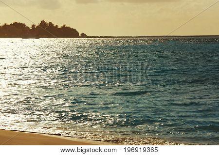 View of beautiful sea coast at resort