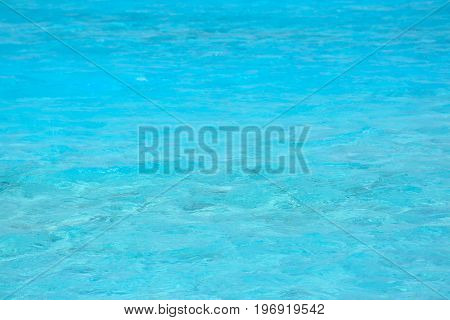 View of blue water at sea resort. Summer vacation concept