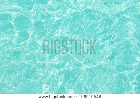 Clear water at sea resort in summer day