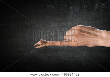 Finger clutch gesture .