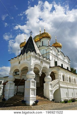 Christianity Trinity cathedral in Ipatievsky monastery Cradle of the house of Romanovs Russia Kostroma city