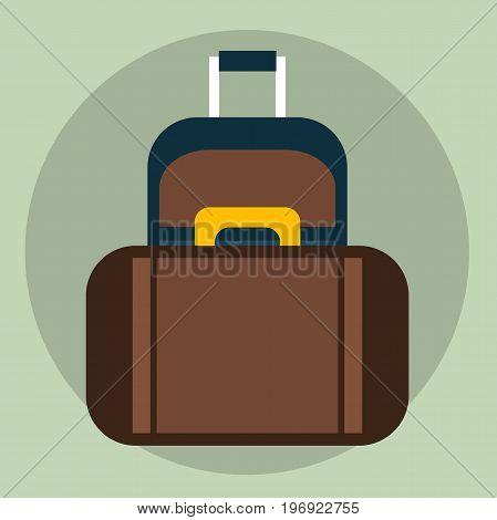 Travel Suitcases Vector. Vector illustration, clip art