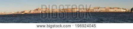 St. Petersburg, Russia - 28 June 2017: Auto Bridge Across The Neva River In St. Petersburg.