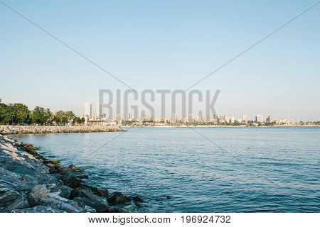 Beautiful view of the Bosphorus from the east side of Istanbul. Turkey. Travel, coast.