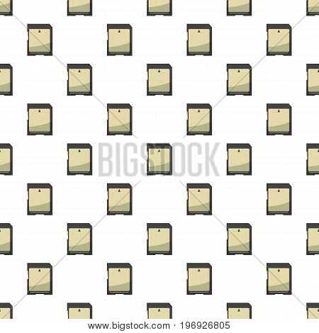 Memory card pattern seamless repeat in cartoon style vector illustration