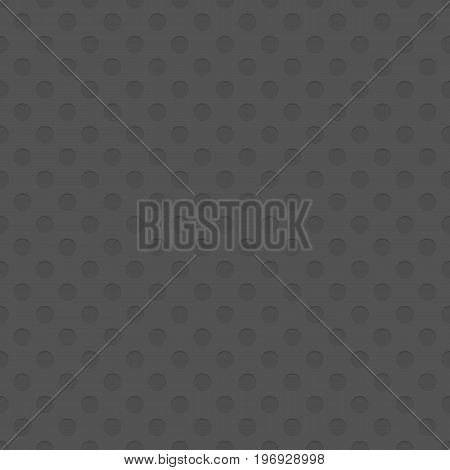 Seamless cutout circle pattern texture background - spatial repeating geometrical vector graphic with shadow effect